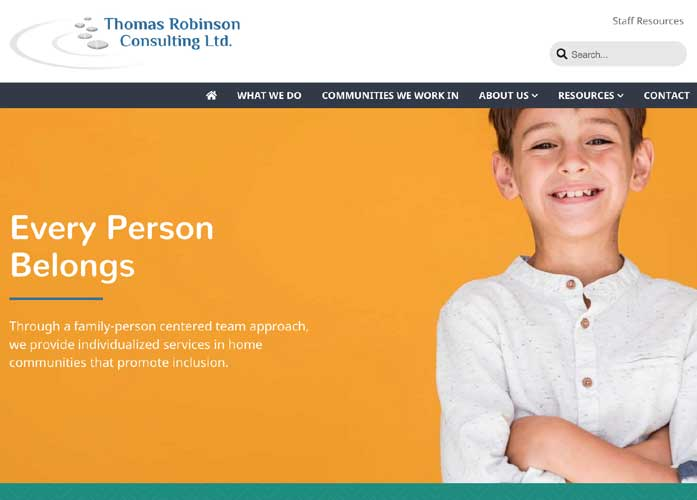 Thomas Robinson Consulting Website Screenshot