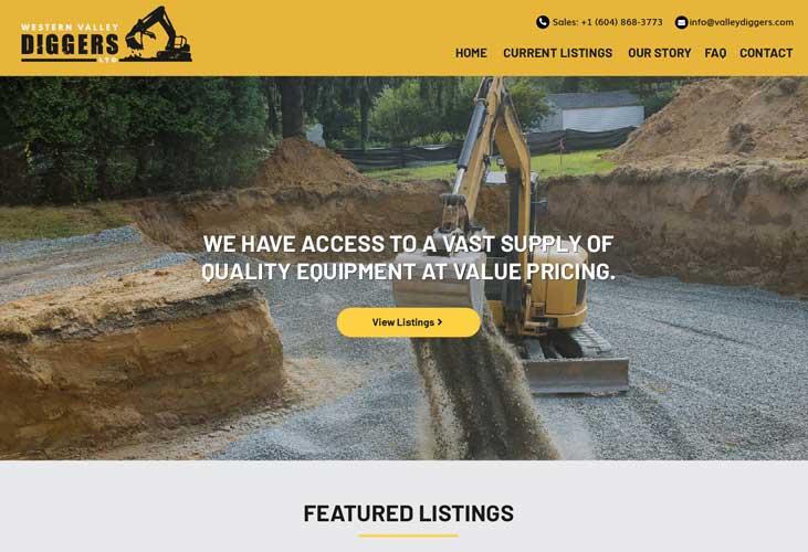 Western Valley Diggers Website Screenshot