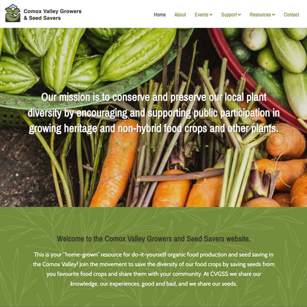 Comox Valley Growers and Seed Savers Site Sample